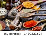 spices and seasonings for... | Shutterstock . vector #1430321624