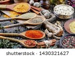 spices and seasonings for... | Shutterstock . vector #1430321627