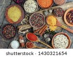 spices and seasonings for... | Shutterstock . vector #1430321654