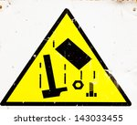 building site danger sign for... | Shutterstock . vector #143033455