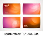 set of colorful vector business ... | Shutterstock .eps vector #143033635