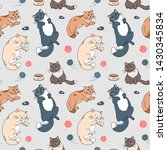 seamless pattern with cute... | Shutterstock .eps vector #1430345834