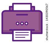 printer icon vector. flat... | Shutterstock .eps vector #1430390567