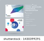 abstract design brochure in... | Shutterstock .eps vector #1430399291