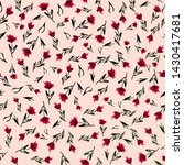 simple ditsy cute pattern with... | Shutterstock . vector #1430417681