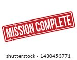 mission complete rubber stamp.... | Shutterstock .eps vector #1430453771
