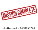 mission complete rubber stamp.... | Shutterstock .eps vector #1430453774