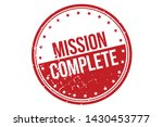 mission complete rubber stamp.... | Shutterstock .eps vector #1430453777