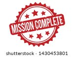 mission complete rubber stamp.... | Shutterstock .eps vector #1430453801