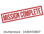 mission complete rubber stamp.... | Shutterstock .eps vector #1430453807