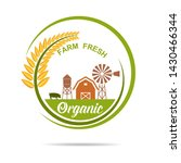 farm fresh of vector emblems... | Shutterstock .eps vector #1430466344