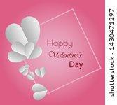 happy valentines day typography ... | Shutterstock .eps vector #1430471297