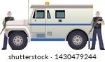 armored money carrier vehicle... | Shutterstock .eps vector #1430479244