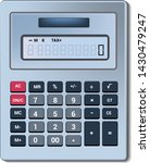 calculator vector business... | Shutterstock .eps vector #1430479247