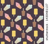 vector ice cream seamless... | Shutterstock .eps vector #1430481137