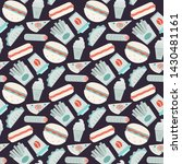 vector fast food ipattern in... | Shutterstock .eps vector #1430481161