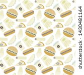 vector fast food ipattern in... | Shutterstock .eps vector #1430481164