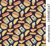 vector fast food ipattern in... | Shutterstock .eps vector #1430481167