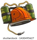 cartoon orange drinking beer...   Shutterstock .eps vector #1430495627