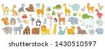 set of different animals.... | Shutterstock .eps vector #1430510597