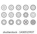 vector outline of gears wheel ... | Shutterstock .eps vector #1430515937