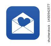 envelope with valentine heart... | Shutterstock .eps vector #1430542577