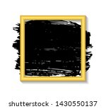 gold frame and  ink brush... | Shutterstock .eps vector #1430550137