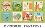 vector templates with fun... | Shutterstock .eps vector #1430554931