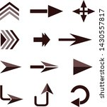 directional arrows on a white...