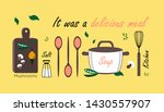 line art icon on yellow... | Shutterstock .eps vector #1430557907