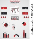 retro infographic demographic...   Shutterstock . vector #143056564