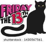 Stock vector friday the th with evil black cat isolated on white background vector illustration 1430567561