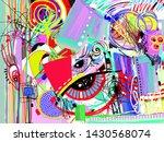 bright abstract digital... | Shutterstock .eps vector #1430568074