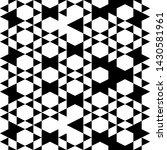 seamless pattern. hexagons ... | Shutterstock .eps vector #1430581961