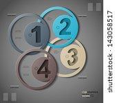 inforgraphic  1  2  3  4 | Shutterstock .eps vector #143058517