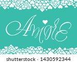love hand drawn lettering   ... | Shutterstock .eps vector #1430592344