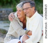 happy loving senior couple... | Shutterstock . vector #143060815