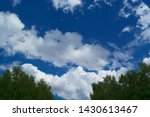 white cumulus clouds on... | Shutterstock . vector #1430613467