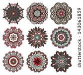 circle ornament  ornamental... | Shutterstock .eps vector #143061859