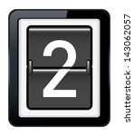 number 2 on a mechanical... | Shutterstock .eps vector #143062057