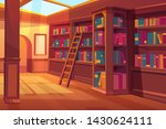 library interior  empty room... | Shutterstock .eps vector #1430624111
