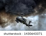 Apache Helicopter In Combat...