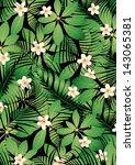tropical frangipani | Shutterstock .eps vector #143065381