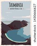 Tasmania Retro Poster. Tasmani...