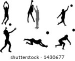 volleyball silhouettes | Shutterstock .eps vector #1430677