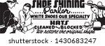 shoe shining parlor   retro ad... | Shutterstock .eps vector #1430683247