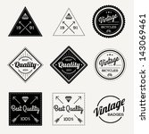 collection of vector vintage... | Shutterstock .eps vector #143069461