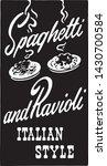spaghetti and ravioli 2   retro ...   Shutterstock .eps vector #1430700584