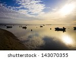 boats on keurbooms lagoon at... | Shutterstock . vector #143070355