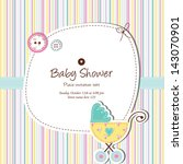 baby card with copy space nice... | Shutterstock . vector #143070901